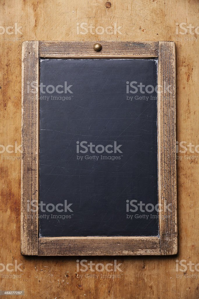 Vintage slate chalk board stock photo