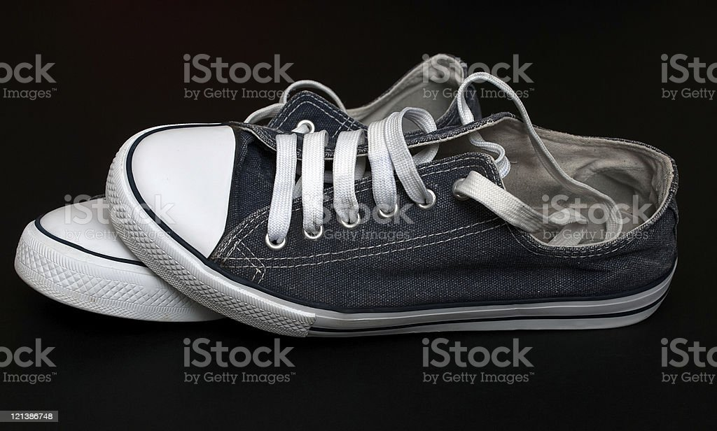 vintage sneakers stock photo