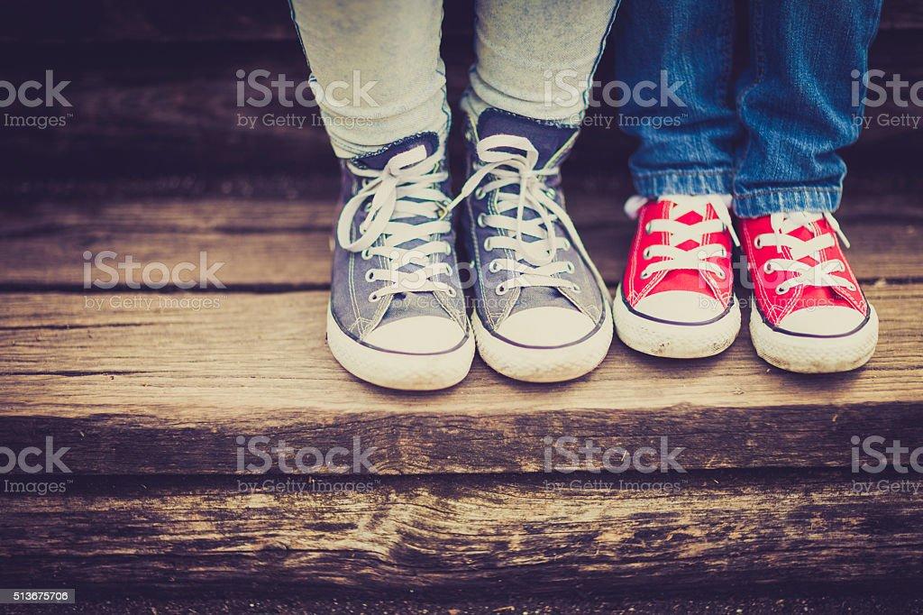 Vintage sneakers stock photo