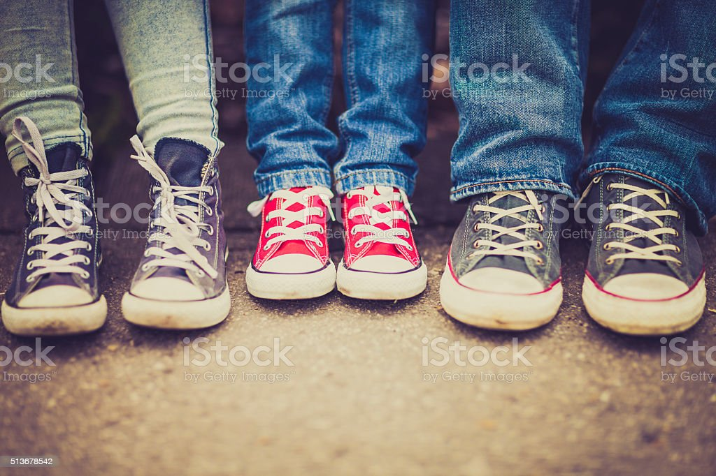 Vintage sneakers royalty-free stock photo