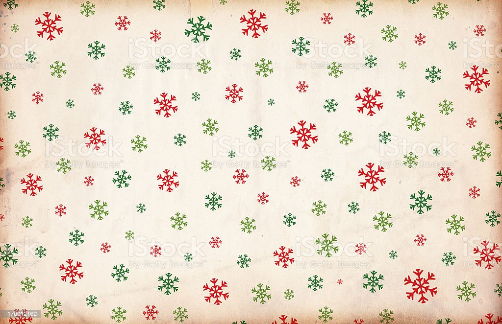 Vintage Snowflake Paper stock photo