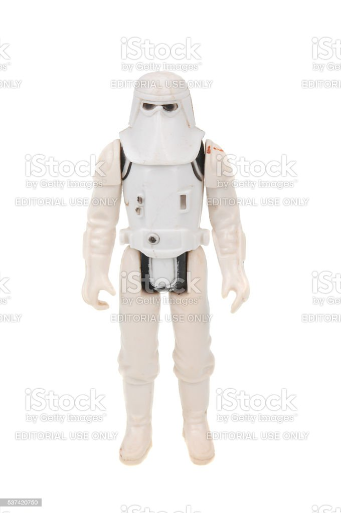Vintage Snowtrooper Action Figure stock photo