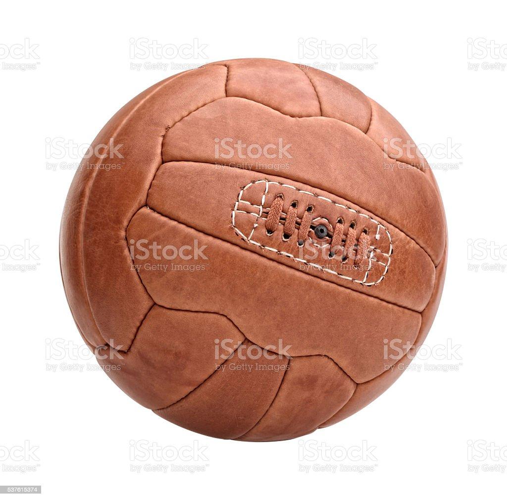 vintage soccer ball stock photo