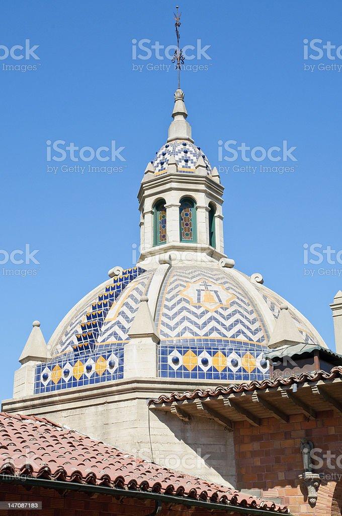 Vintage Spanish style architecture stock photo