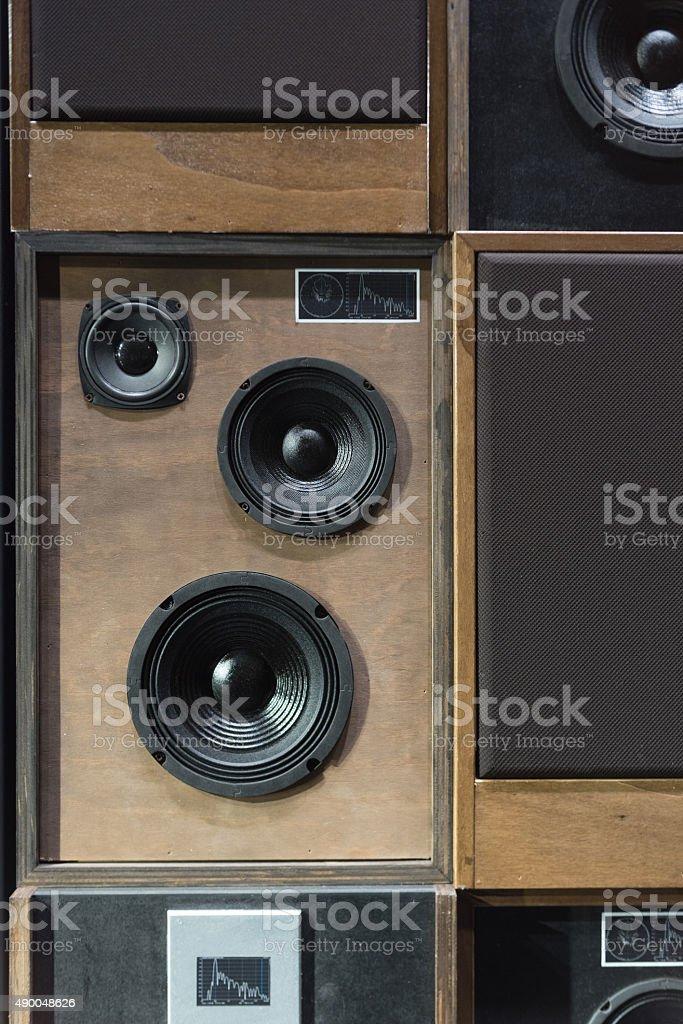 Vintage Speakers stock photo