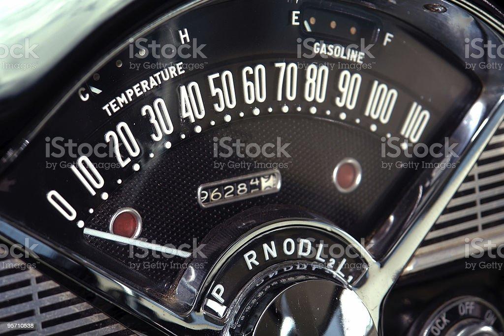 Vintage Speedometer stock photo