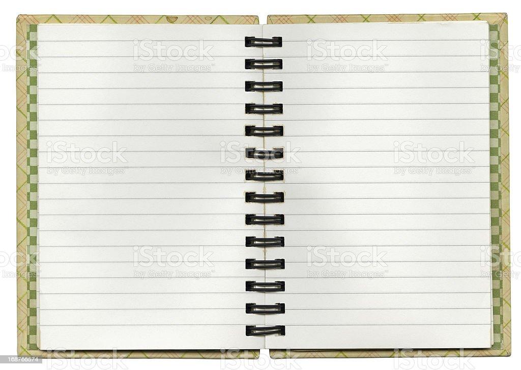 Vintage Spiral Notebook  XXXL royalty-free stock photo