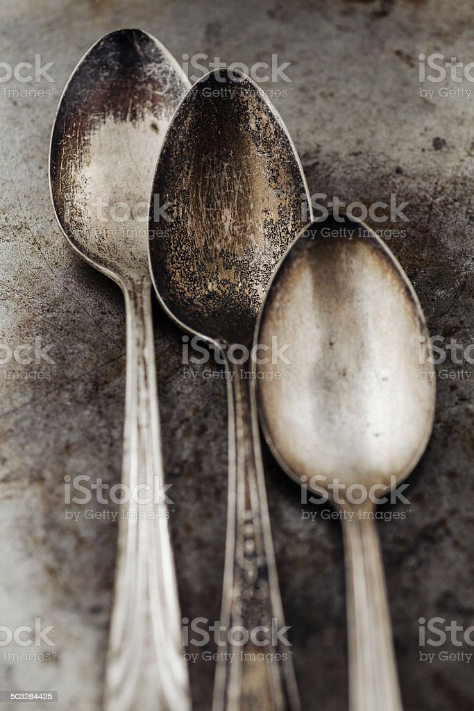 Vintage spoons royalty-free stock photo