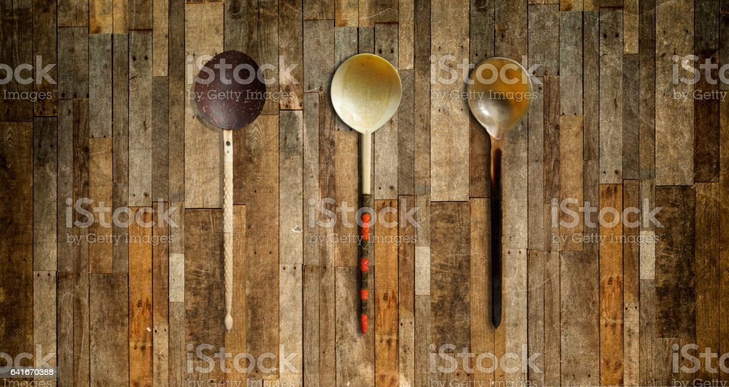 Vintage spoons stock photo