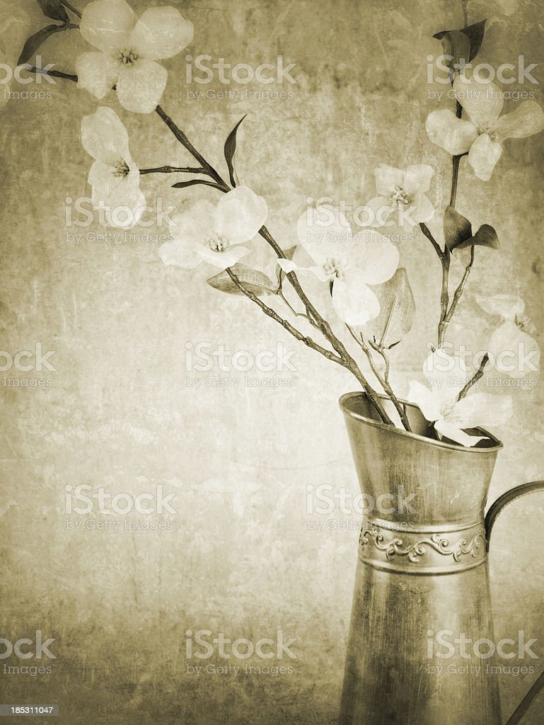 Vintage Spring Flowers royalty-free stock photo