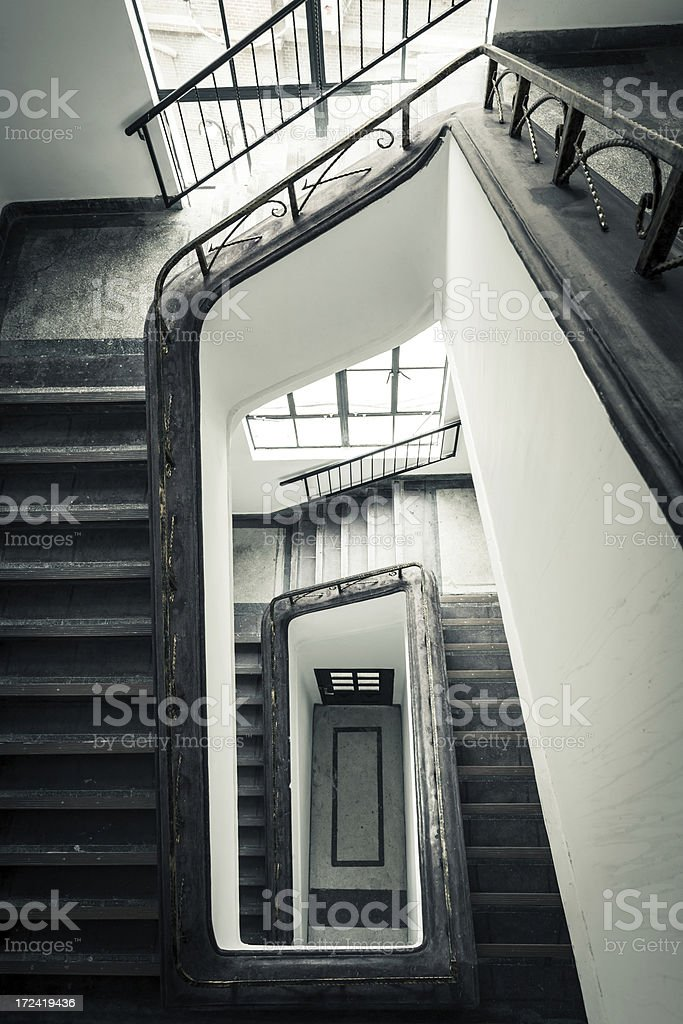 vintage stair royalty-free stock photo