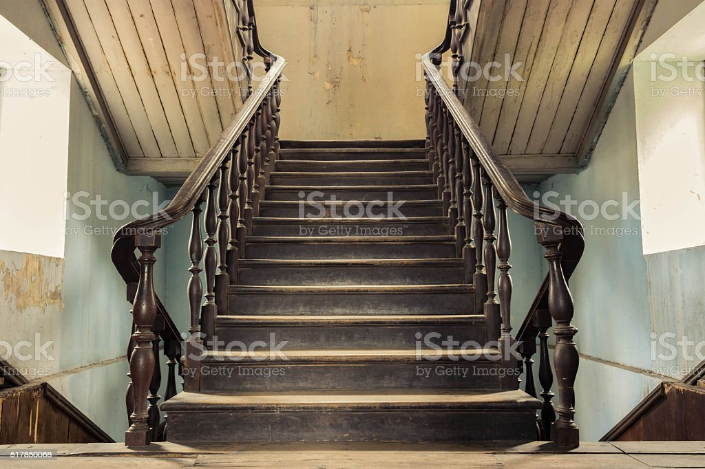vintage stair stock photo