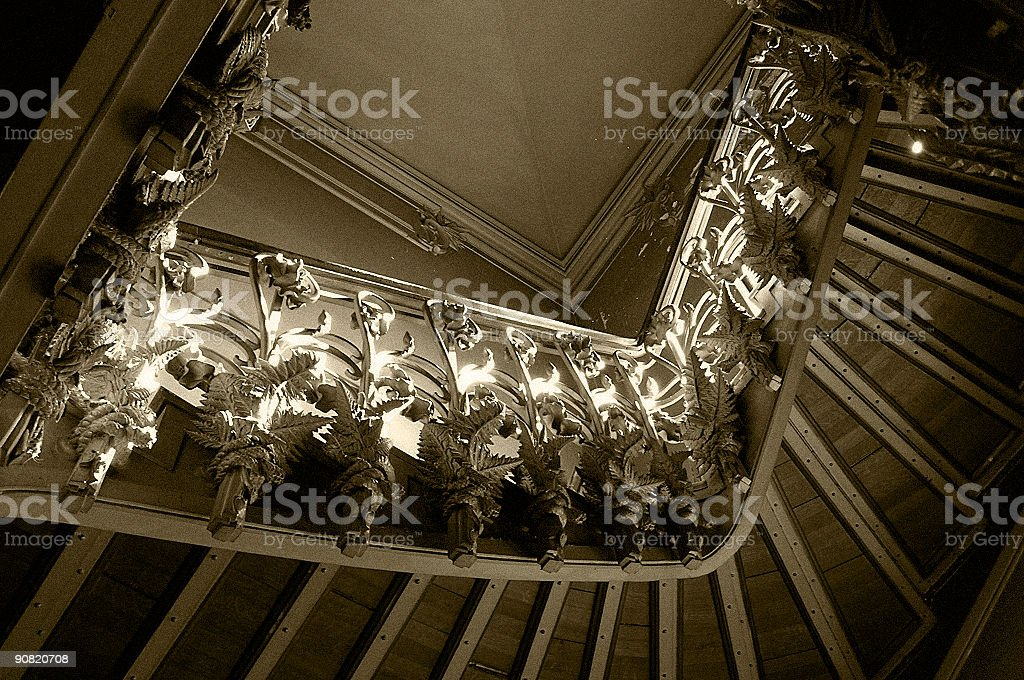 Vintage stairs royalty-free stock photo