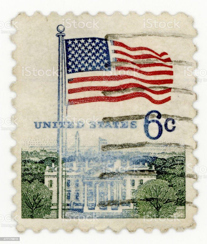 vintage stamp stock photo