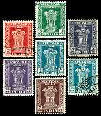 Vintage stamps from India