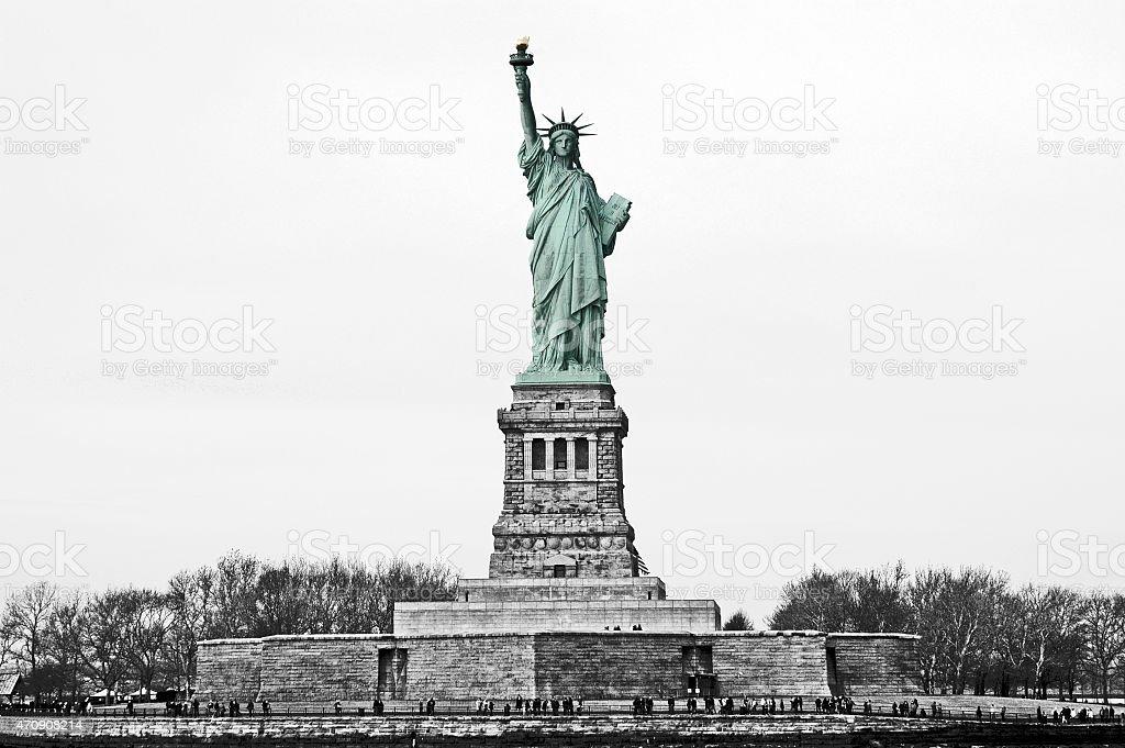 Vintage Statue of Liberty stock photo