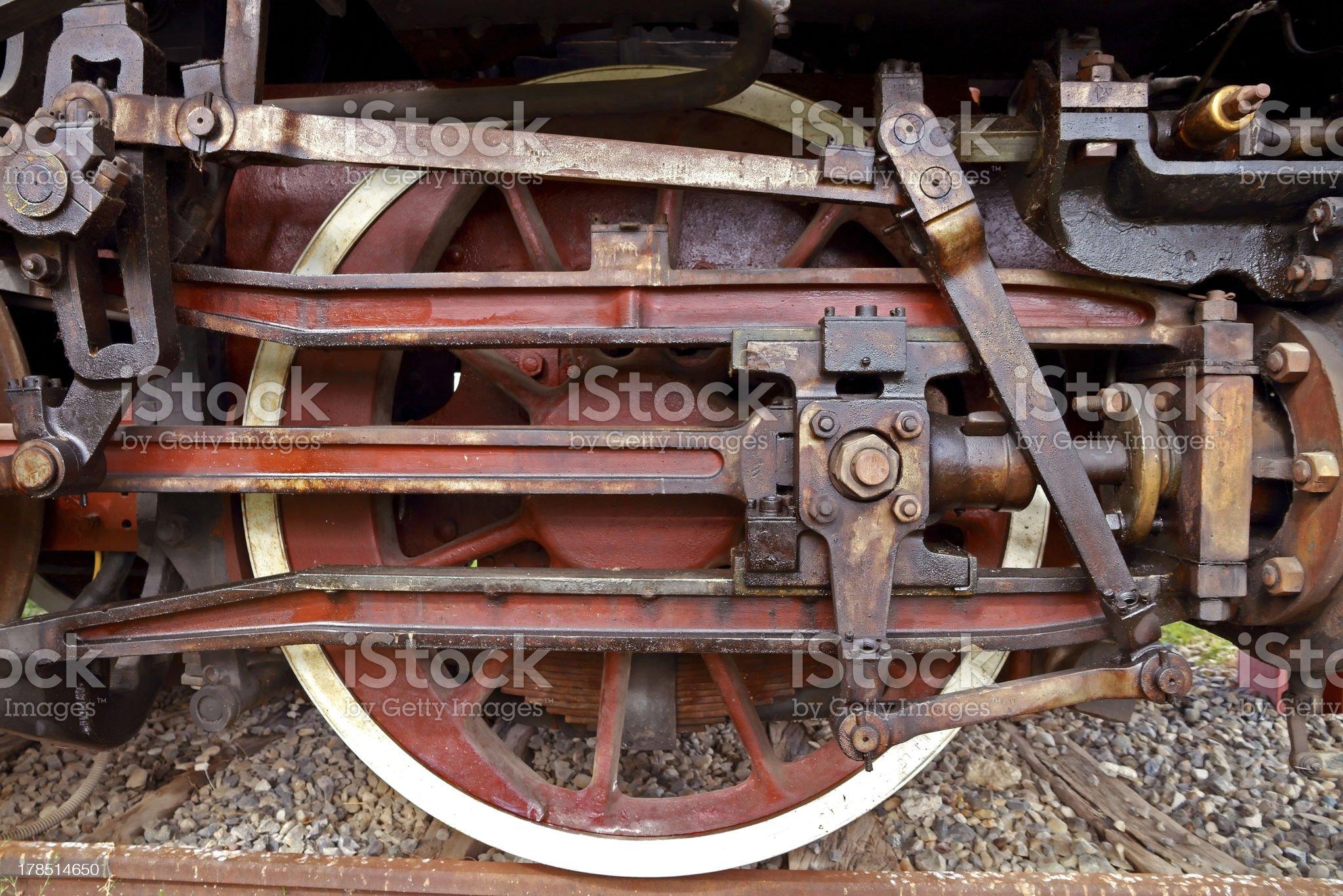 Vintage steam locomotive royalty-free stock photo
