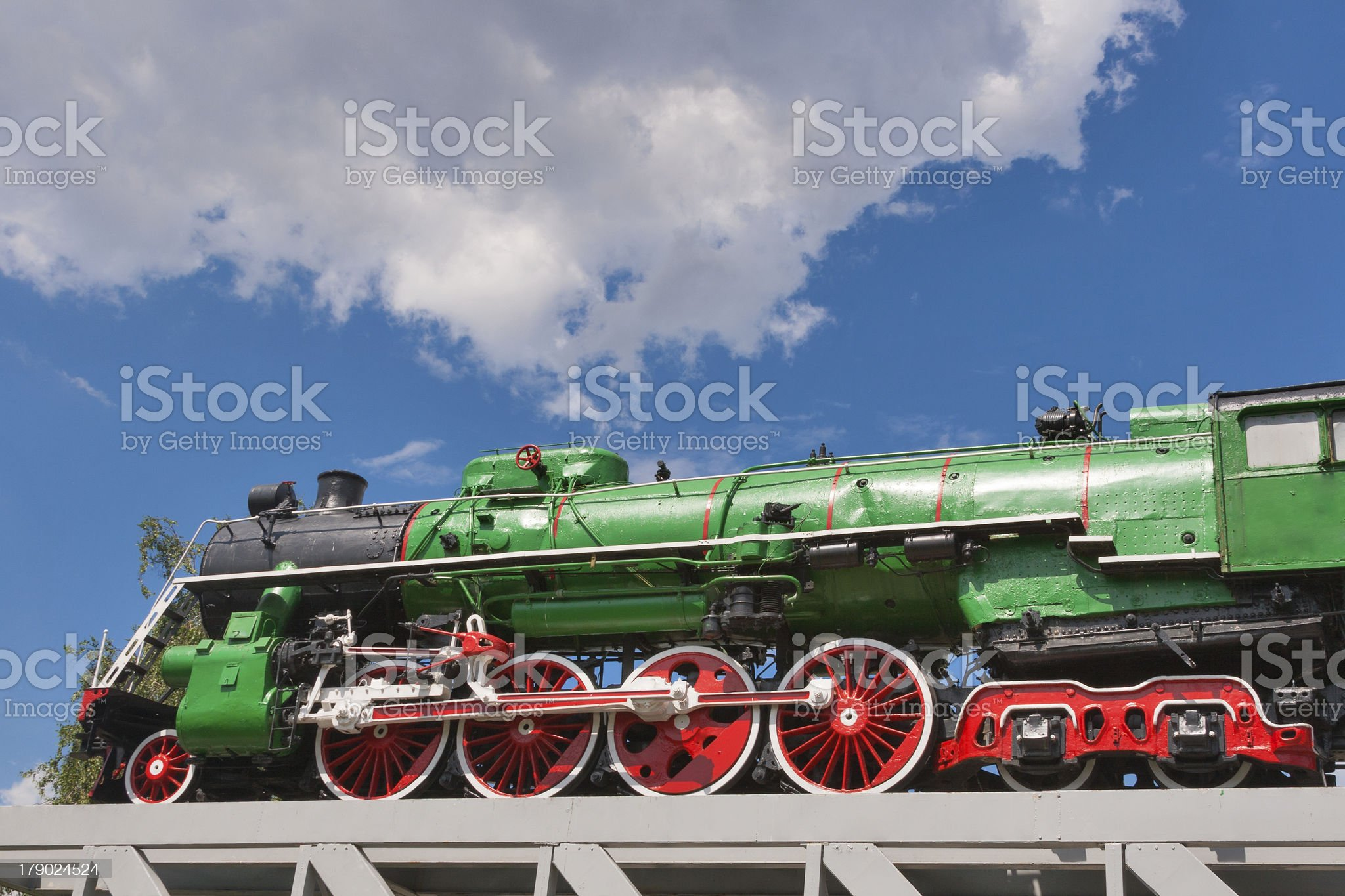 Vintage Steam Locomotive royalty-free stock photo