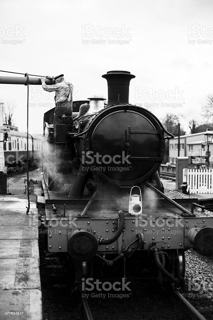 Vintage Steam Train royalty-free stock photo