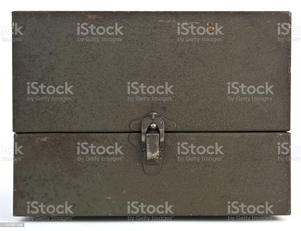Vintage Steel Case royalty-free stock photo
