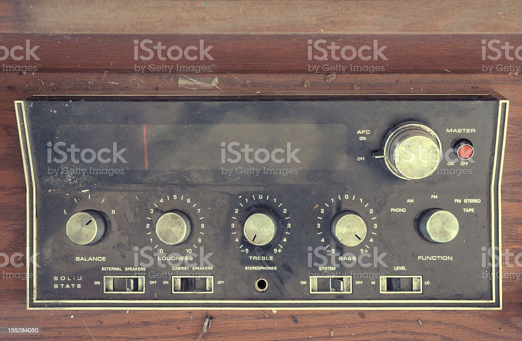 Vintage Stereo royalty-free stock photo