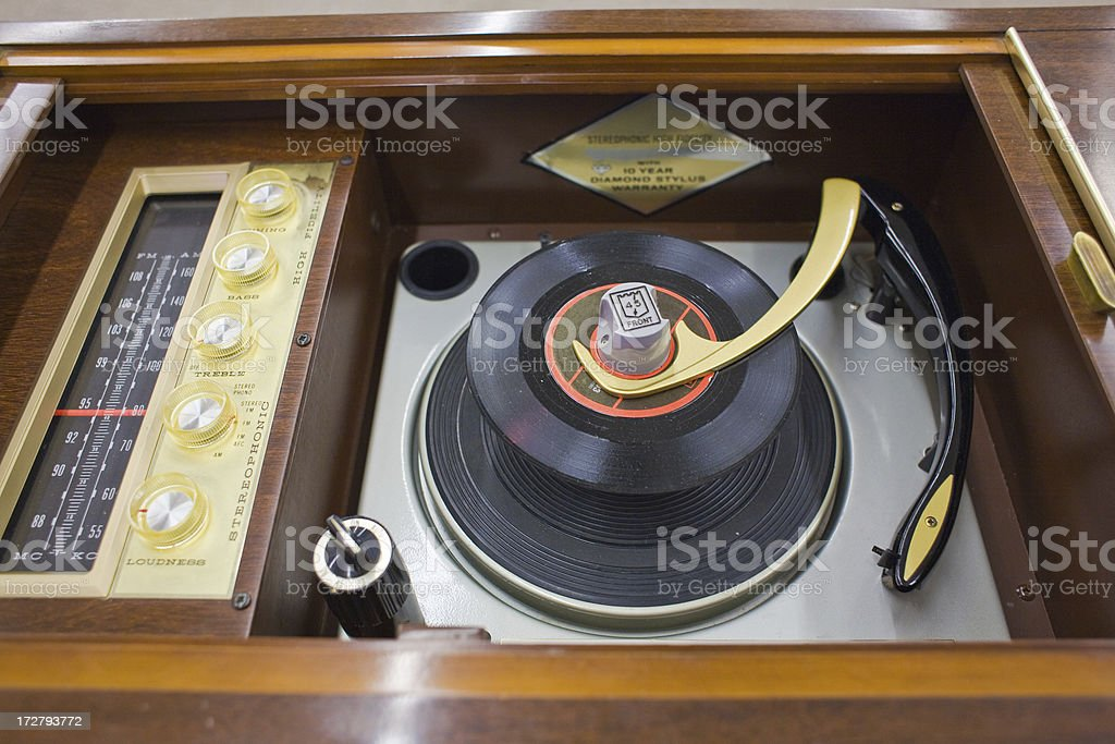 Vintage Stereo System stock photo