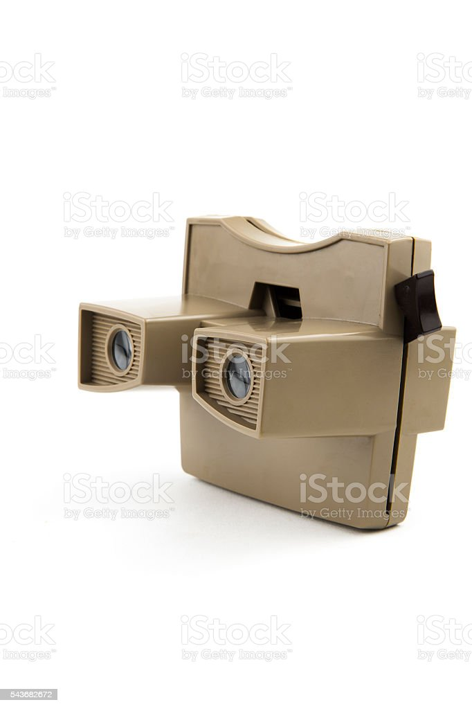 vintage stereoscopic viewer stock photo