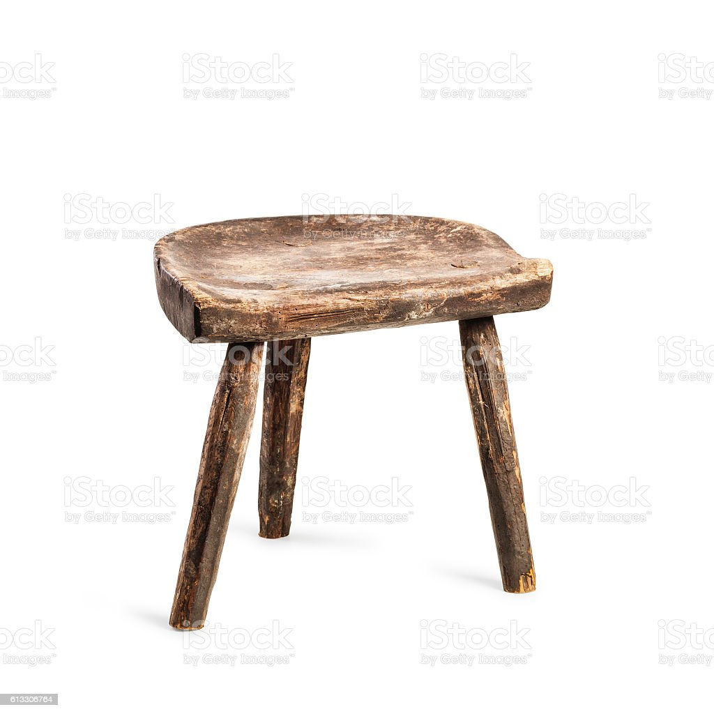 Vintage stool stock photo