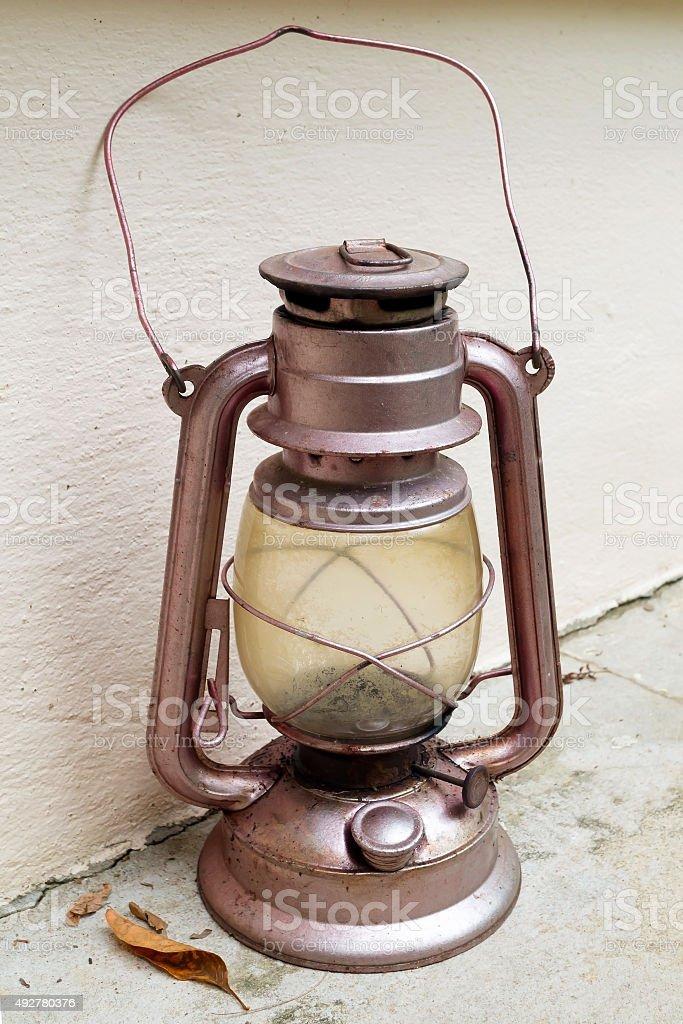 Vintage storm lantern stock photo