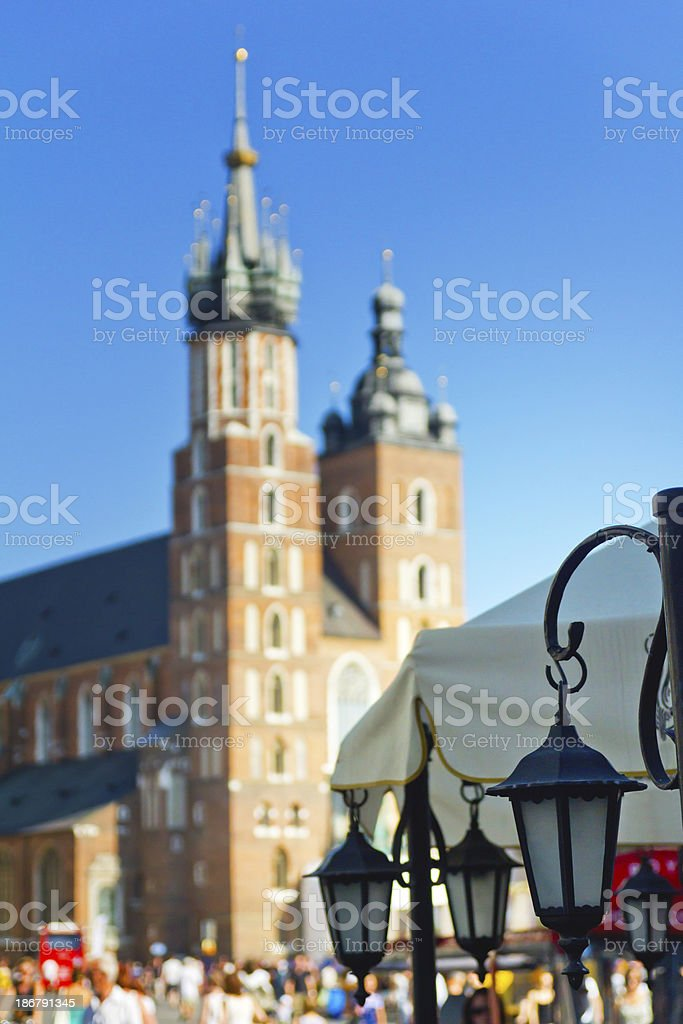 Vintage Street Lamp stock photo