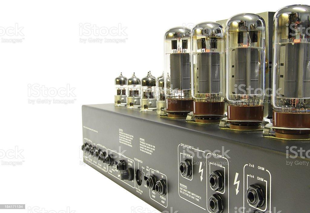 Vintage style amplifier stock photo