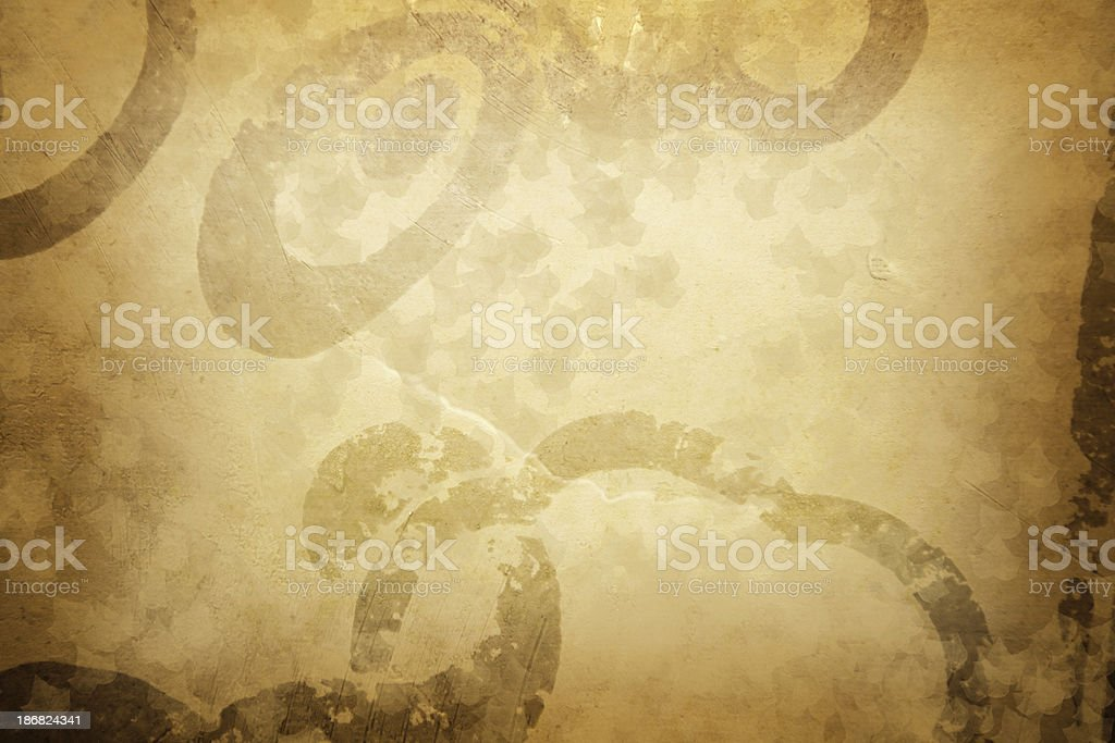 Vintage style background in golden color of curls royalty-free stock photo