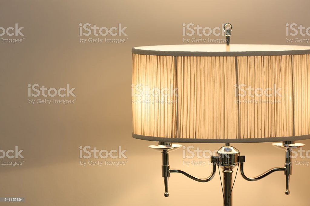 Vintage style bed lamp stock photo