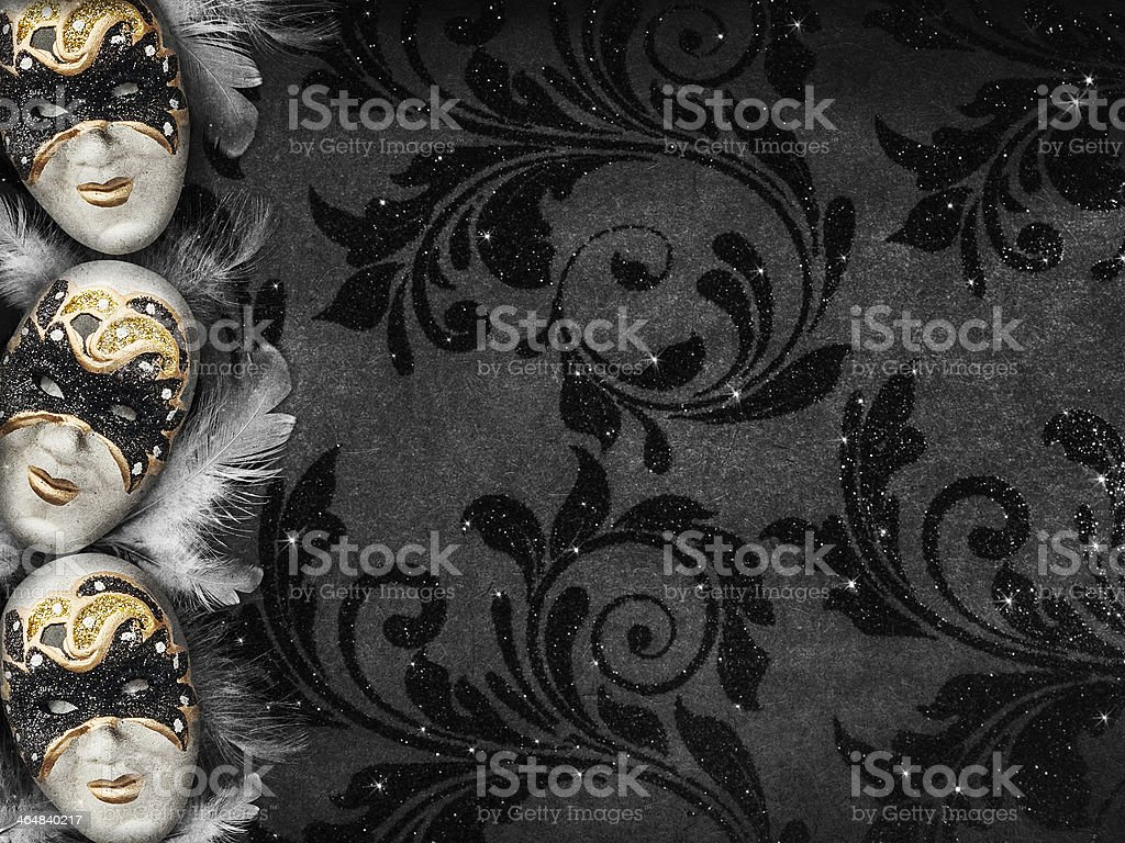 Vintage style dark masquerade background stock photo