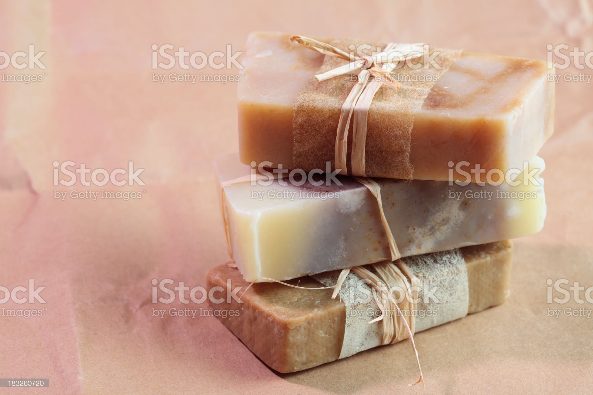 Vintage style homemade, natural soap royalty-free stock photo