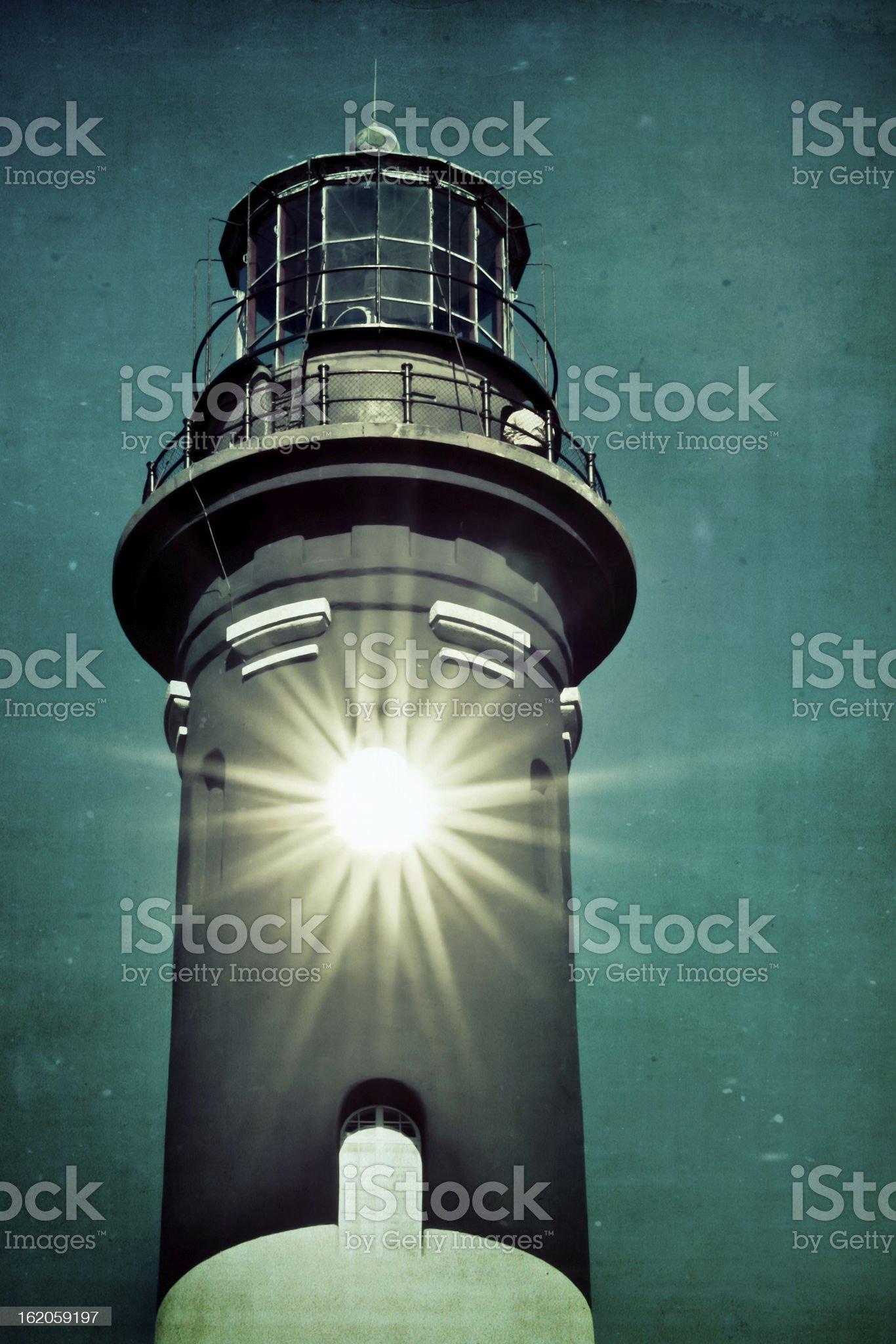 Vintage Style Lighthouse royalty-free stock photo