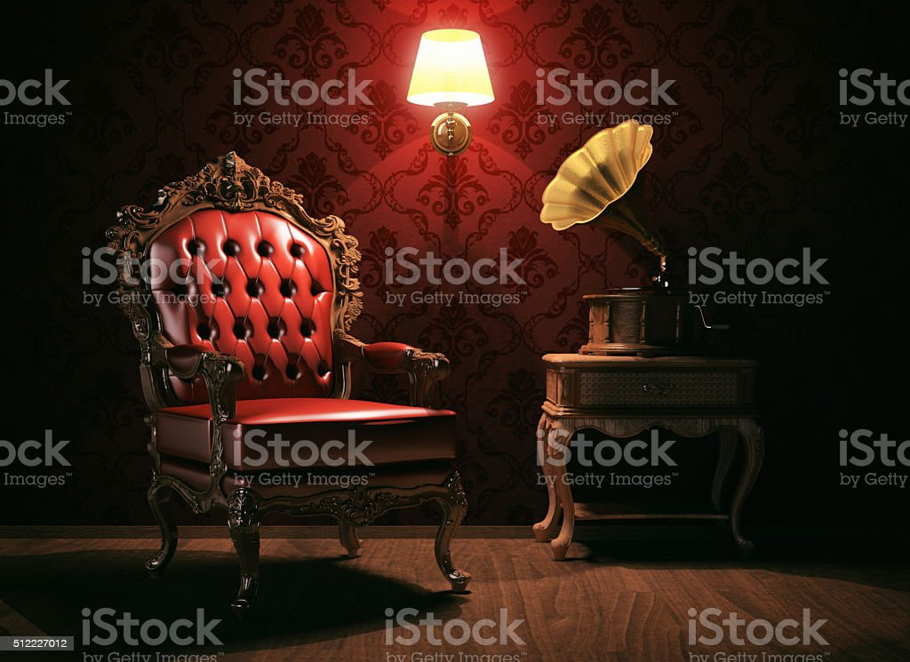 Vintage style room stock photo