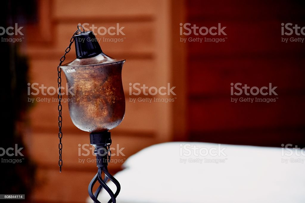 Vintage Style Torch Candle royalty-free stock photo