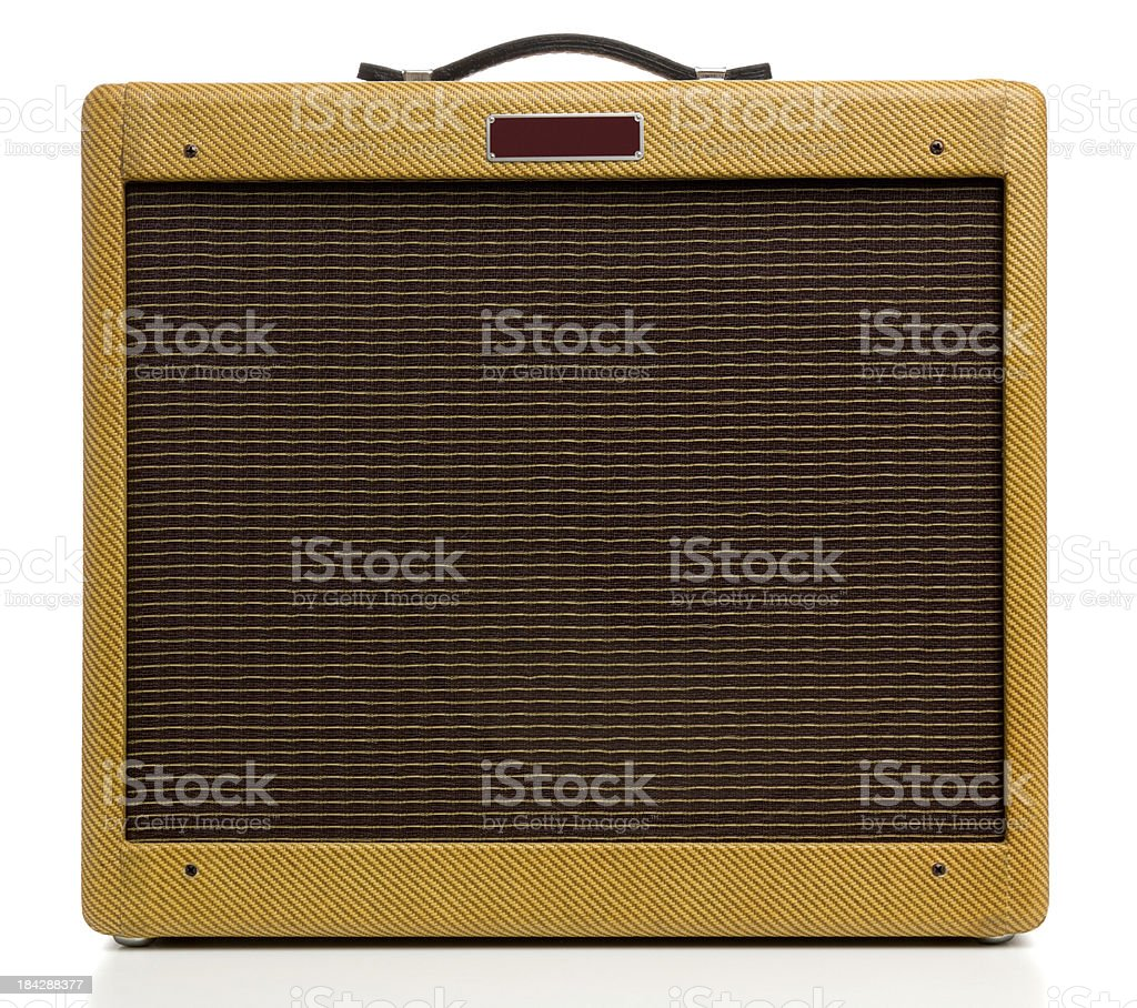 Vintage Style Tweed Amplifier stock photo