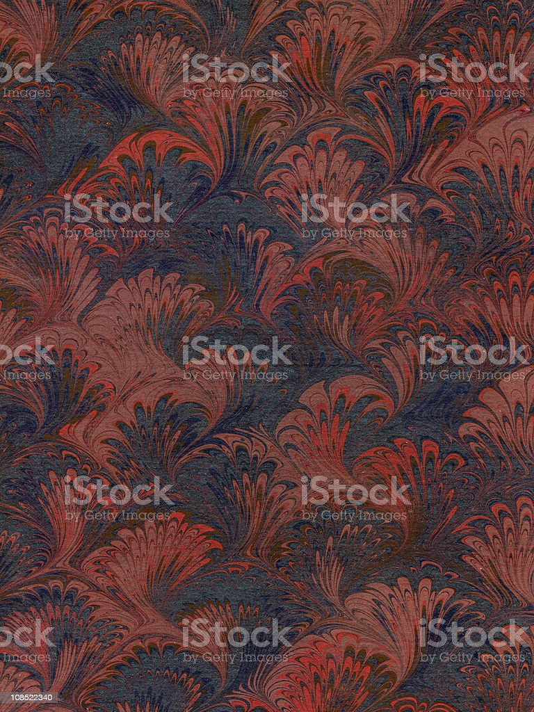 Vintage style wallpaper seamless design in red and black royalty-free stock photo