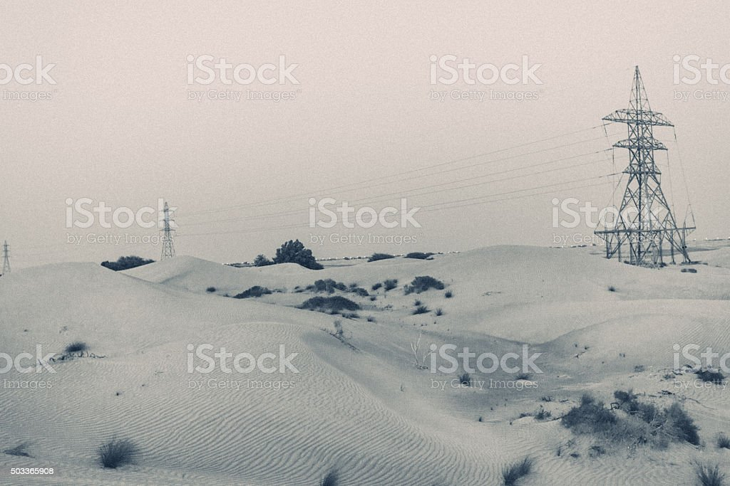 Vintage Styled Image from Dubai Desert stock photo