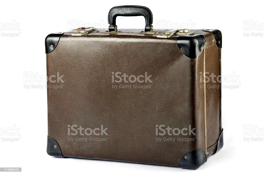 Vintage Suitcase isolated on white royalty-free stock photo