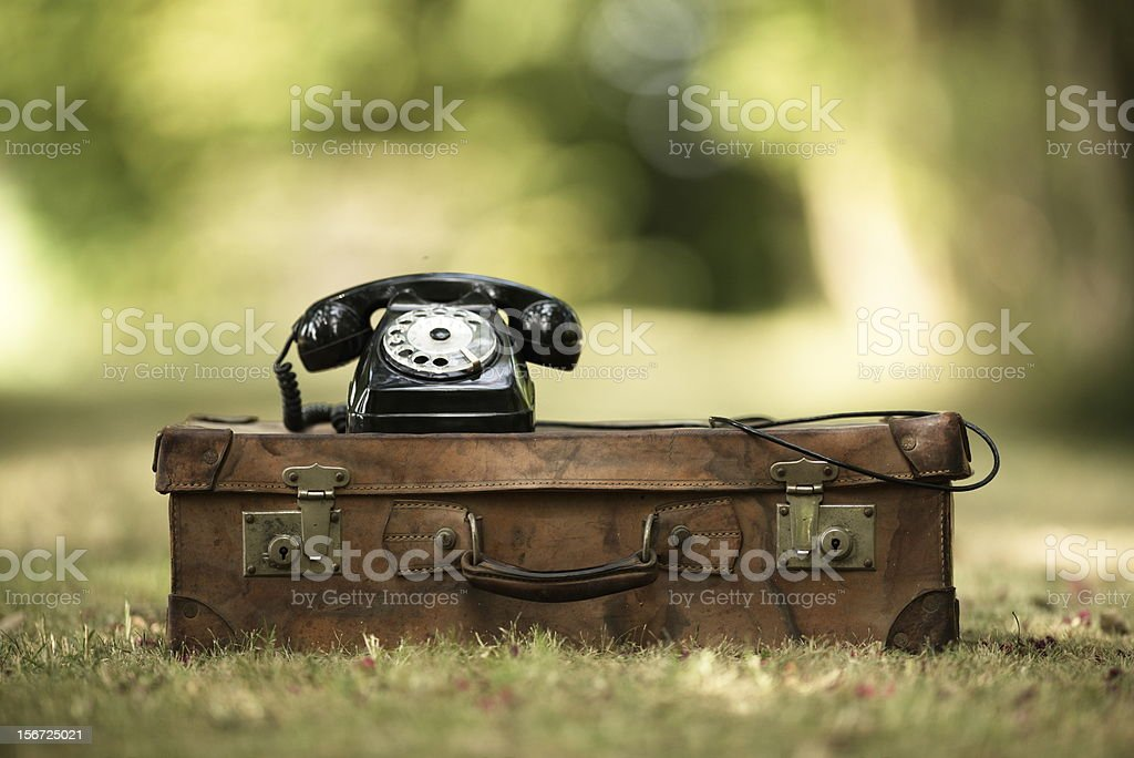 vintage suitcase royalty-free stock photo