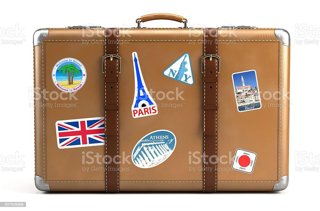 Vintage suitcase stock photo