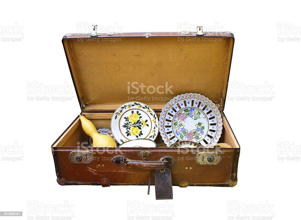 Vintage suitcase royalty-free stock photo