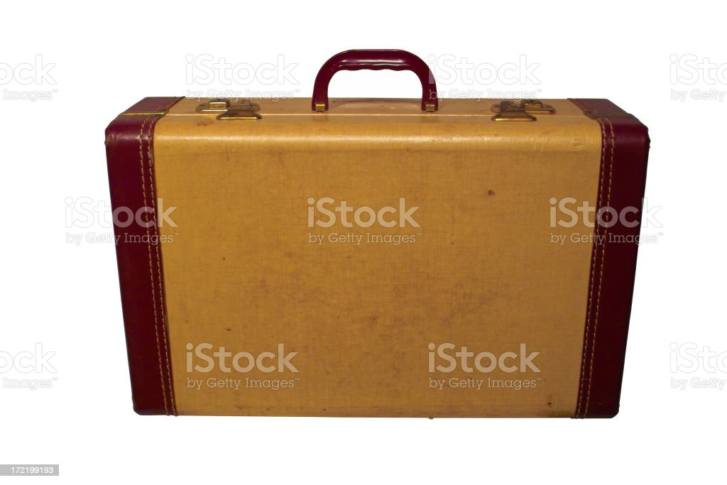 vintage suitcase w/ path royalty-free stock photo