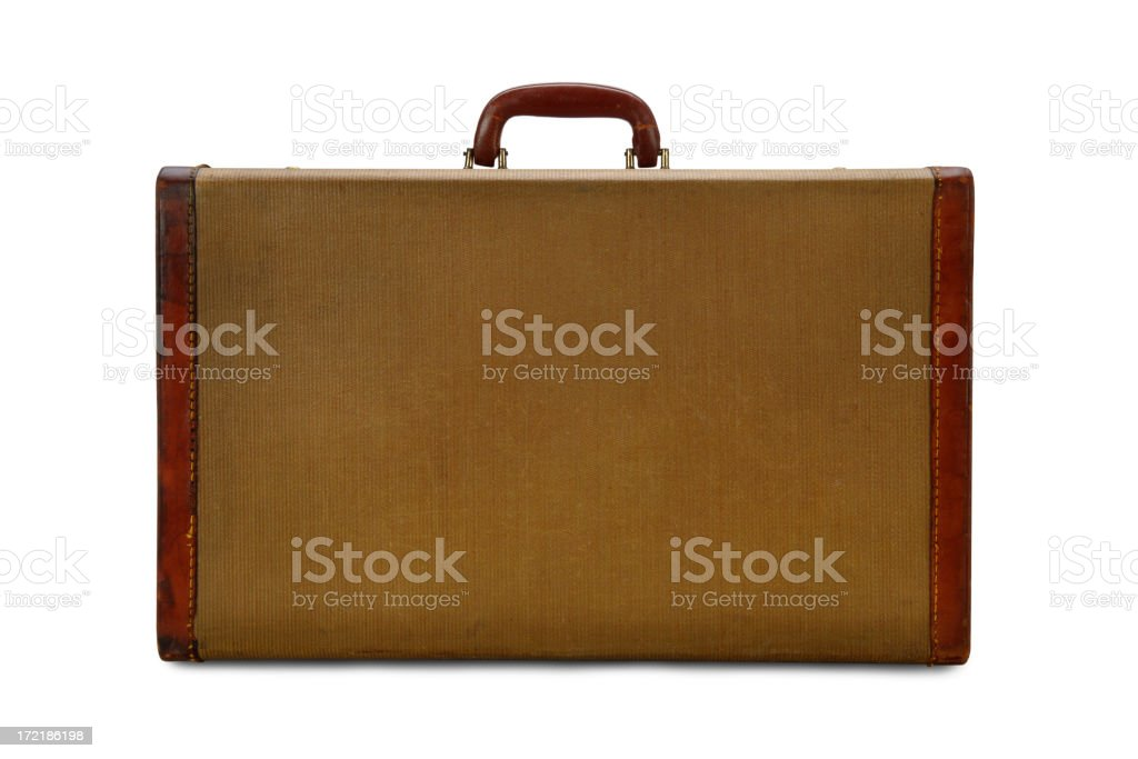 Vintage Suitcase with Leather Trim royalty-free stock photo