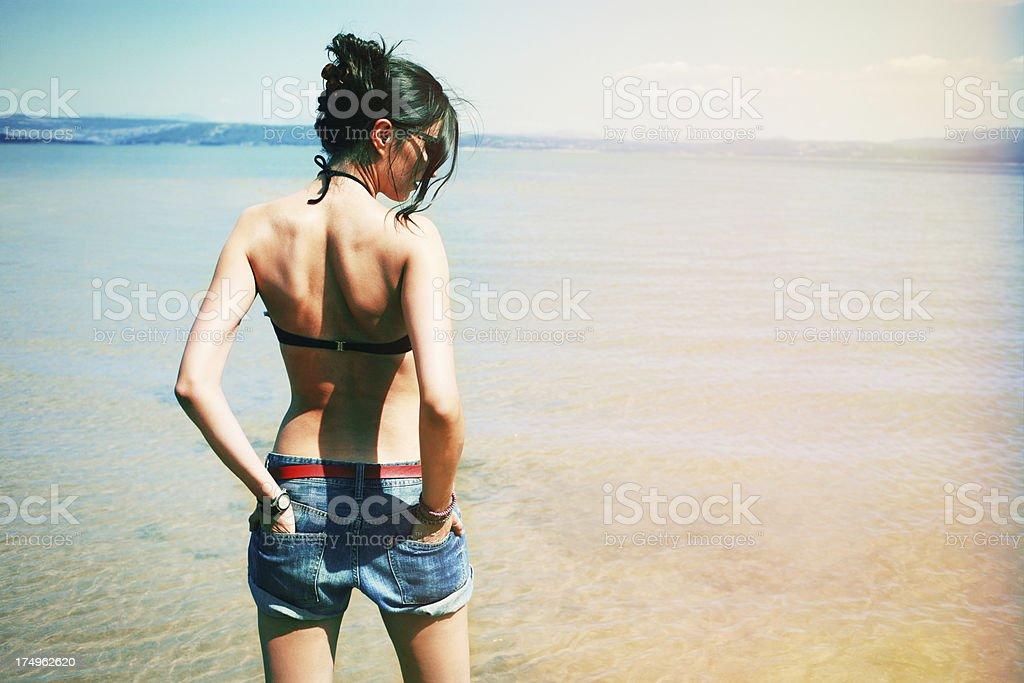 Vintage summer beach royalty-free stock photo