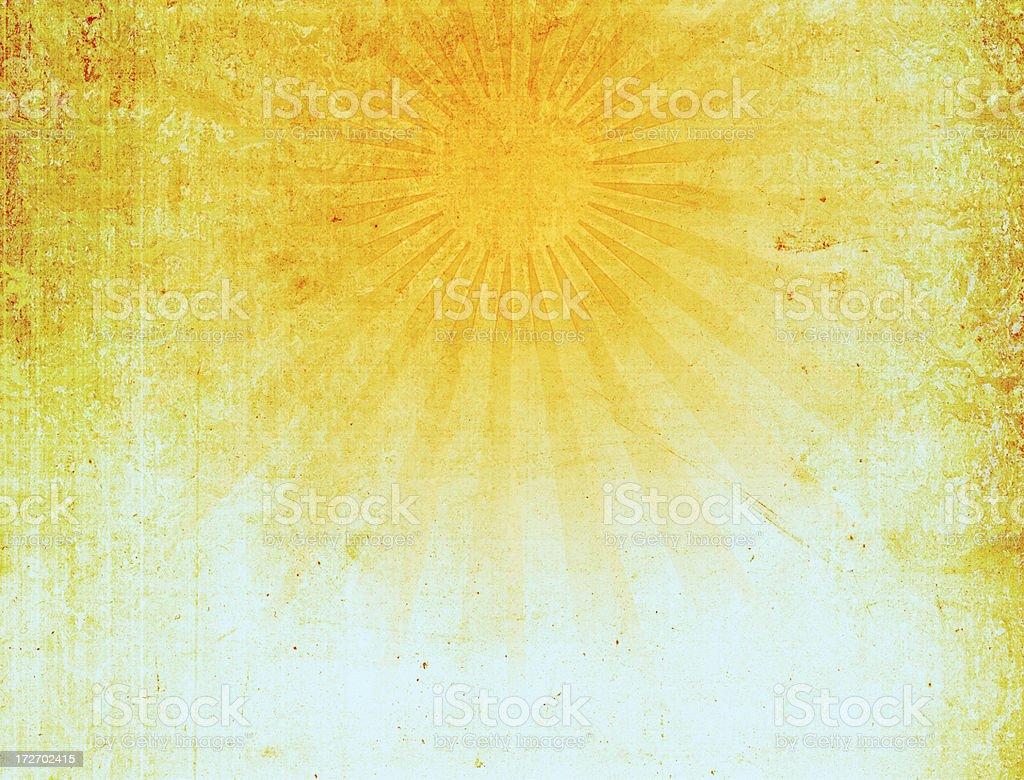 Vintage Sun Ray Background XXXL stock photo