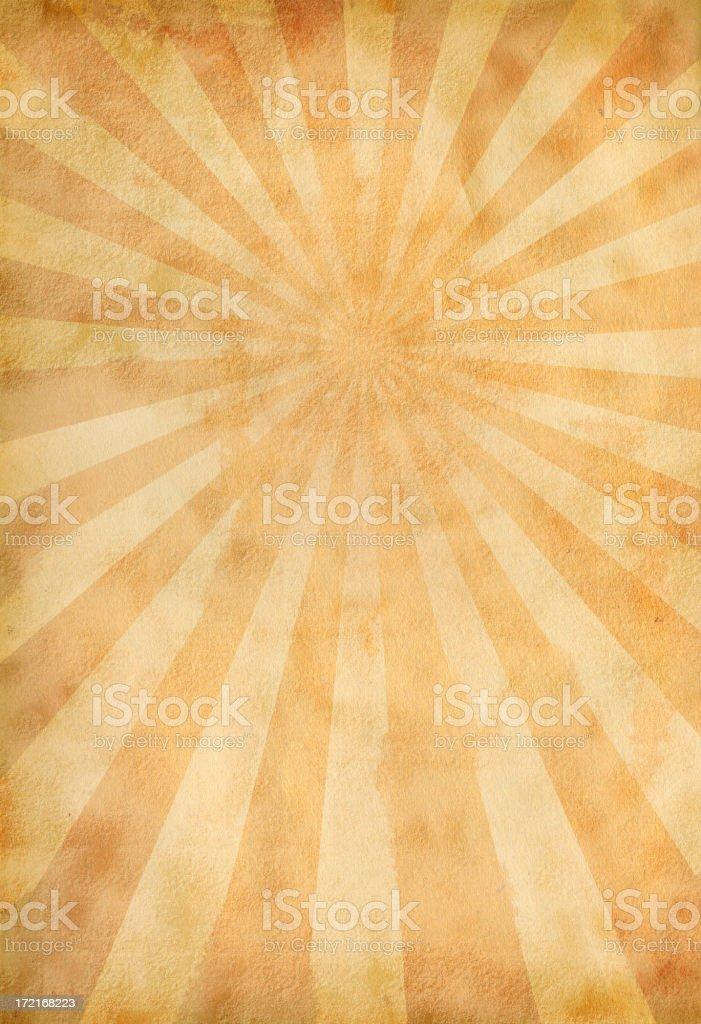 Vintage Sunburst Paper stock photo